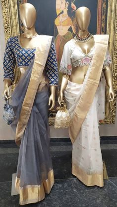 Sari Dress, Saree Blouse, Banarasi Lehenga, Stylish Blouse Design, Blouse Designs Silk, Kamiz, Stylish Sarees, Saree Look, Elegant Saree