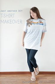 PaperBird : Unfolded: Just Another DIY T-Shirt Makeover