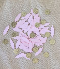 Blush Pink Gold Glitter Confetti Wedding by ConfettiBistro on Etsy