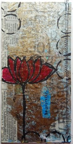 Craft Hoarders Anonymous Oct hop: Art journal page using Gelli Prints by Christy Houser
