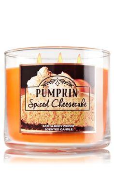 Pumpkin Spiced Cheesecake 3-Wick Candle - Spiced Pumpkin, Graham Cracker Crust…