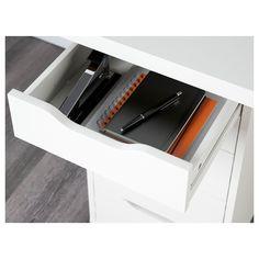 "LINNMON / ALEX Table, white, 59x29 1/2"" - IKEA Ikea Office, Office Computer Desk, Gaming Desk, Office Workspace, Computer Tables, Office Spaces, Work Spaces, Attic Office, Ikea Table"