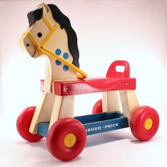 vintage fisher price ride-on horse from 1976