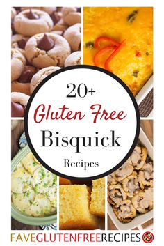 These are the best gluten-free Bisquick recipes! In most cases, just swap gluten free Bisquick for regular Bisquick. From cookie recipes to breakfast recipes, cinnamon roll recipes to side dish recipes, there are so many recipes with Bisquick that you'll love.