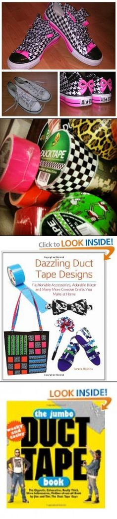 Seriously!  How cute are these duct tape designed shoes!!!!
