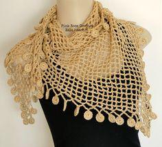 Este modelo de Xale não é difícil, mas para fazer é preciso ter  um pouquinho de prática de crochê e paciência...