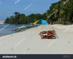 Thailand Beach with Chairs