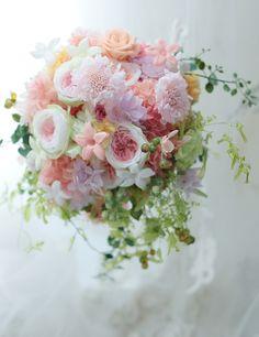 プリザーブドブーケ 北海道へ 「全国へブーケをお届けいたします」2 : 一会 ウエディングの花
