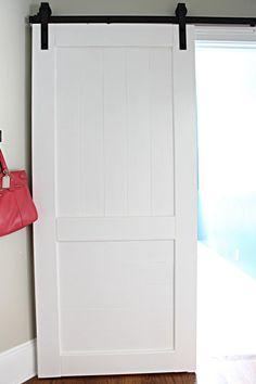 DIY sliding door for laundry (or for the basement door)