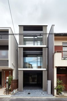 The local architects were commissioned to design a skinny house to replace a demolished building in the commercial centre of Honshu, which is known for its modern architecture.