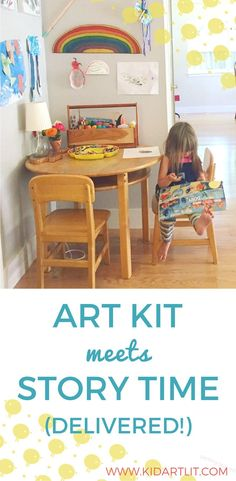 This might be my new subscription box for kids! Bring joy, connection, and inspiration into your home with a thoughtfully curated monthly delivery of children's books, related kids art projects with all the supplies, and a mini magazine. This is perfect i