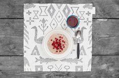 White table mat from Saana ja Olli