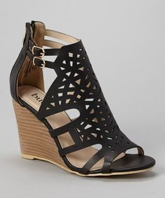 Another great find on #zulily! Black Katniss Wedge Sandal #zulilyfinds