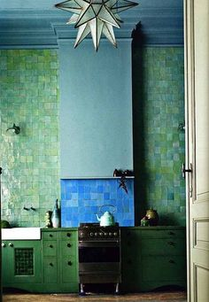 10 Gorgeous Blue and Green Kitchens Kitchen Inspiration   The Kitchn