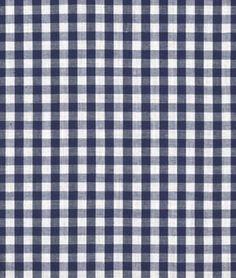 "Robert Kaufman 1/8"" Navy Blue Carolina Gingham Fabric - $6.95 | onlinefabricstore.net"
