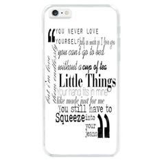 Little Things ONE Direction Lyrics Quote Hard Case Cover For iphone 6 5S 5C - $7.99