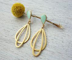 Grande Ola Post boucles d'oreilles design par shlomitofir sur Etsy, $63.00