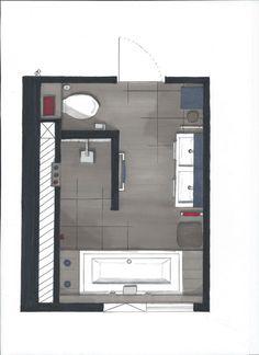 Unusual Article Uncovers the Deceptive Practices of Master Bathroom Layout - Bathroom - Bathroom Decor Bathroom Toilets, Bathroom Renos, Laundry In Bathroom, Bathroom Ideas, Bathroom Remodelling, Restroom Ideas, Bathroom Wall, Bathroom Floor Plans, Bathroom Flooring