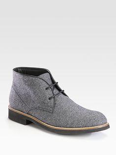 Tod's Felt Chukka Boot