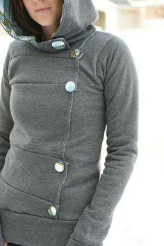 Home Made Sweatshirt Idea   Practical Enrichment - more → http://fashiononlinepictures.blogspot.com/2013/08/home-made-sweatshirt-idea-practical.html