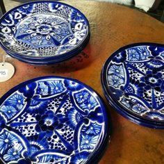 Mexican Talavera Plates at Barrio Antiguo Houston Texas 77007 sales@barrioantiguofurniture.com