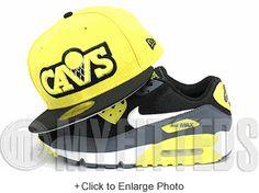 Cleveland Cavaliers Moonbeam Yellow Jet Black Metallic Silver Air Max 90  Matching New Era Hat Foam 072039e50d5c