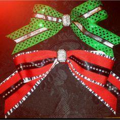 Bling bling cheer bows