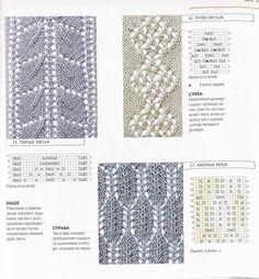 lace charts - knitting stitches