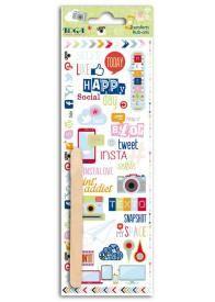 Cette planche de décalcomanies ou transferts (rub-ons) comporte environ 25 motifs en couleur sur le thème d'Internet et des réseaux sociaux pour transférer vos envies créatives et décoratives !