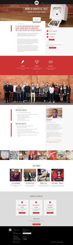 383 Careers Page by Morgan Jones, via Behance