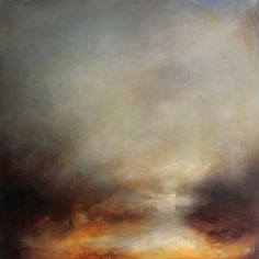 ARTFINDER: A Dream to Hold by Kerr Ashmore - From my brand new collection, 'A Dream to Hold' is an atmospheric, abstract landscape full of neutral, earthy tones,, subtle blues and warm and comforting go...