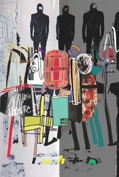 David Carson : anniversary poster for Britains National Theatre David Carson Design, Storyboard, Collage Poster, Pop Art, Vintage Poster, National Theatre, Art Design, Type Design, Cover Design