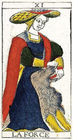 Tarot de Marseille Heritage - Pierre Madenié, Dijon 1709 - La Force
