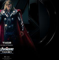 Thor the God of Thunder played by Chris Hemsworth. #avengers