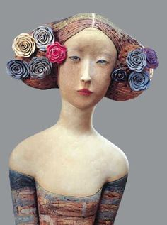 All BlossomMe (detail) by Camille Vandenberge - Sculpture (Ceramic) - Works '00