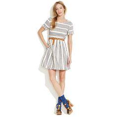 Stucco Stripe Songbird Dress  http://www.madewell.com/madewell_category/DRESSES/waistdefined/PRDOVR~70064/99102624487/ENE~1+2+3+22+4294967294+20~30~~20+17+4294966307~15~~~~~~~/70064.jsp