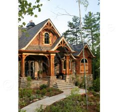 Rustic Cottage House Exterior Design Ideas To Copy 34 Rustic House Plans, Craftsman Style House Plans, Cottage House Plans, Cottage Homes, Craftsman Cottage, Craftsman Homes, Craftsman Exterior, Cottage Interiors, Style At Home
