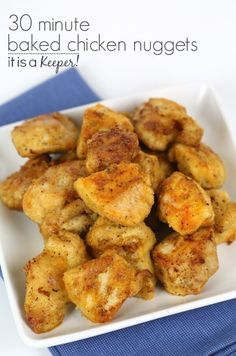 Baked Chicken Nuggets Recipe on Yummly. can find Kid friendly chicken breast recipes and more on our website.Baked Chicken Nuggets Recipe on Yummly. Chicken Nugget Recipes Baked, Homemade Chicken Nuggets, Baked Chicken Nuggets, Easy Baked Chicken, Chicken Meals, Keto Chicken, Kid Friendly Chicken Recipes, Chicken Recipes For Kids, Kid Friendly Meals