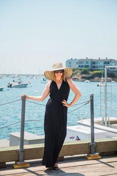 Ellie Kai's Kelsey Maxi on our friend, The Boston Fashionista. #Fashion #SummerStyle #Boston #LBD