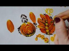 Видеоурок: прописываем цветок в технике петриковской росписи - Ярмарка Мастеров - ручная работа, handmade