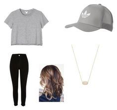 """""""Untitled #12"""" by danielafigueroa012 on Polyvore featuring adidas Originals, Monki, River Island and Kendra Scott"""