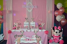 What a fun Minnie Mouse birthday party! See more party ideas at CatchMyParty.com!