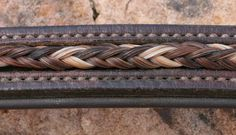 Not the average horsehair accessory: this time it's the horse that gets to wear it! Love this browband!