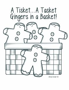 Prim Mart Crafter's Online Community - FREE Primitive Gingers in a Basket Stitchery/Painting Pattern