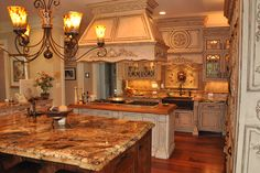 french country kitchens | French Country Inspired Rococo Kitchen » Cabinets by Graber