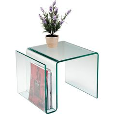 Superb Side Table NewspaperClear Club KARE Design