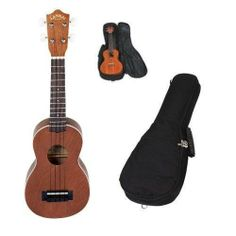 Lanikai LU-21 Soprano Ukulele with Gig Bag by Lanikai. $74.00. The LU-21 is the best selling Soprano Ukulele offered by Lanikai. With the attention to detail and easy playability it is easy to see why. This handcrafted ukulele is made with Nato wood (otherwise known as Eastern Mahogany) on its top back and sides. When this wood choice is paired with the Rosewood fingerboard it brings out a mellow tone with an enhanced midrange that is often missing in instruments in this price...