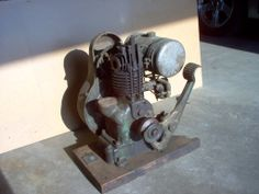 Another Nelson Brothers Upright gas engine.