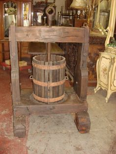 Antique French Wine Press