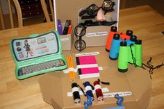 Spy kit - for our dramatic play area